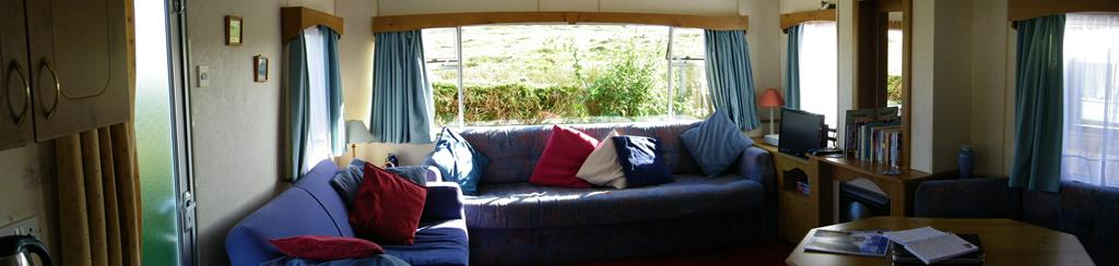 Bothy caravan Seaview self catering holiday accommodation Fionnphort Isle of Mull