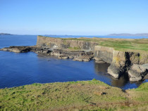 The Old Harbour Isle of Staffa Hebrides Scotland