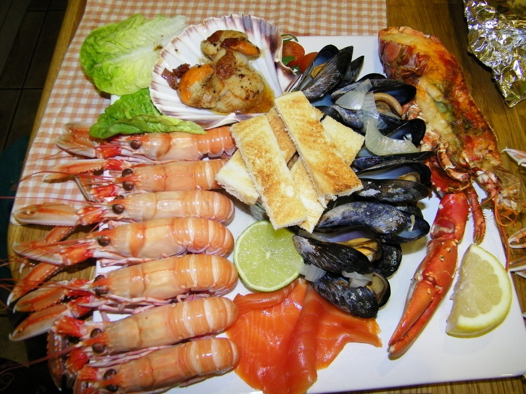 Seafood Platter Seaview Fionnphort Isle of Mull
