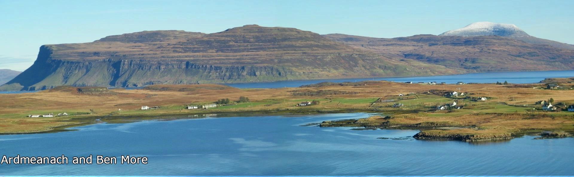 Ardtun,Burg,Ardmeanach,Ben More, Isle of Mull