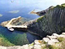 Pier Staffa for tours and Trips,Clamshell Cave, Staffa,Hebrides,Scotland