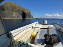 First Mate Lainie on John's boat Wanderer