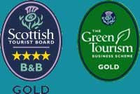 Visitscotland 4 star gold,Green Gold