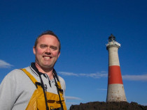 Dubbh Artach Stevenson lighthouse on St Johns Rock Torrans Mull