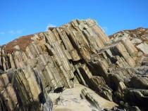 Schist Outcrop Ardalanish Isle of Mull