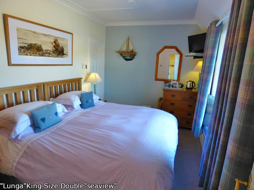 King size double,Lunga bedroom,Seaview,Fionnphort, Isle of Mull