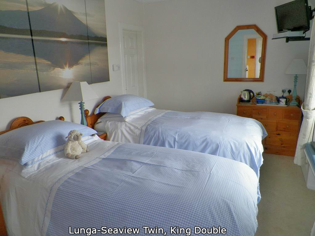 Lunga bedroom,Seaview bed and breakfast, Mull