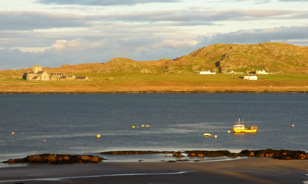 Winter sun, Fionnphort Bay, Isle of Iona