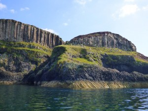 Ardtun, Basalt columns, fossil Beds Mull, Isle of Mull