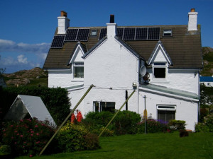 Solar Panels, Green Tourism Gold, Seaview ,bed and breakfast, Isle of Mull