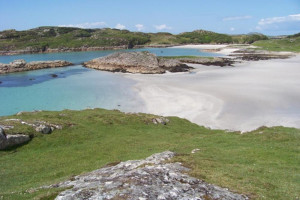 Beaches ,Bothy Caravan ,self catering holiday accommodation at Seavew Fionnphort Mull