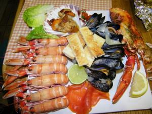 Seafood Platter Seaview Fionnphort Isle of Mull