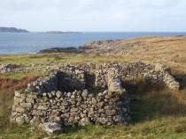 Basalt and Fossils Ardtun, croft,Loch na Laithaich lighthouse