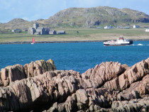 Iona Abbey Dun I  Iona Sound   Iona Ferry from Fionnphort Mull