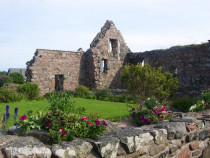 Iona nunnery garden and refectory Isle of Iona