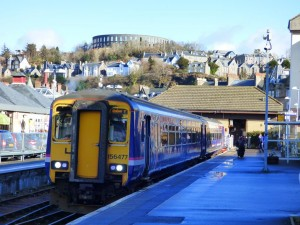 Oban Glasgow Train at Oban Station