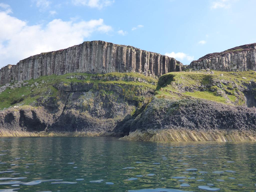 Basalt cliff and Fossils ,Ardtun,Bunessan,Isle of Mull