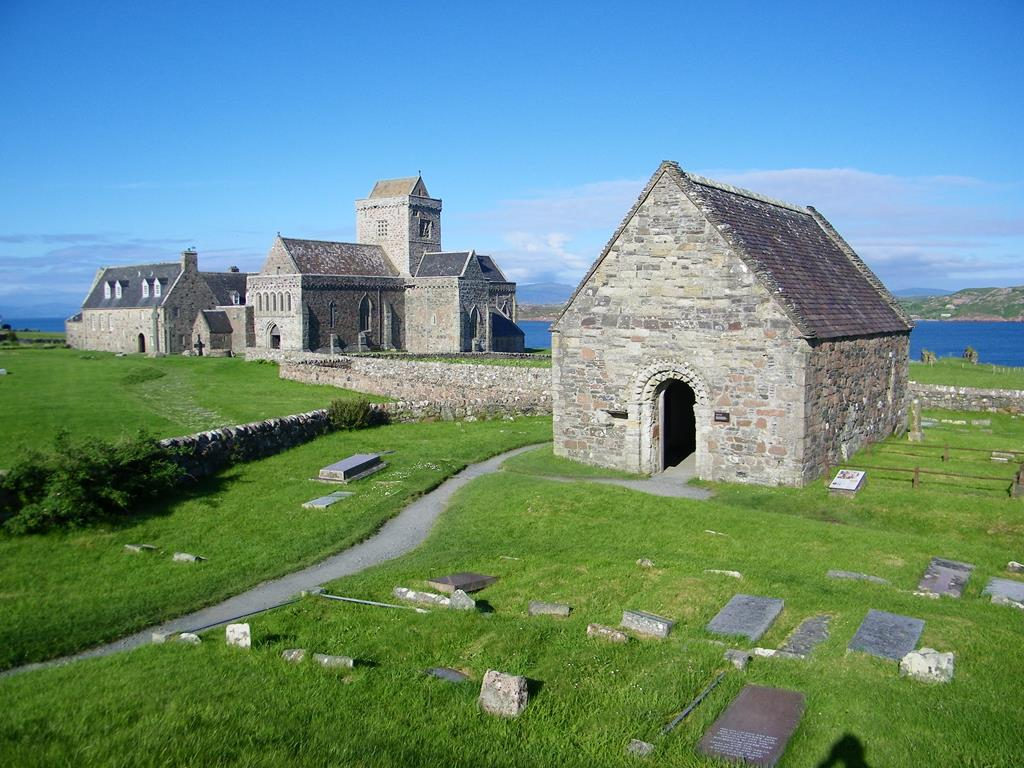 Iona abbey St Orans Chapel St of the Dead Isle of Iona