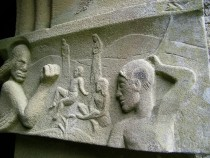 Isle of Iona Abbey Carvings