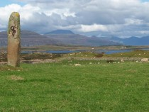 Tiraghoil standing Stone Loch Scridain Ben More Burg Isle of Mull