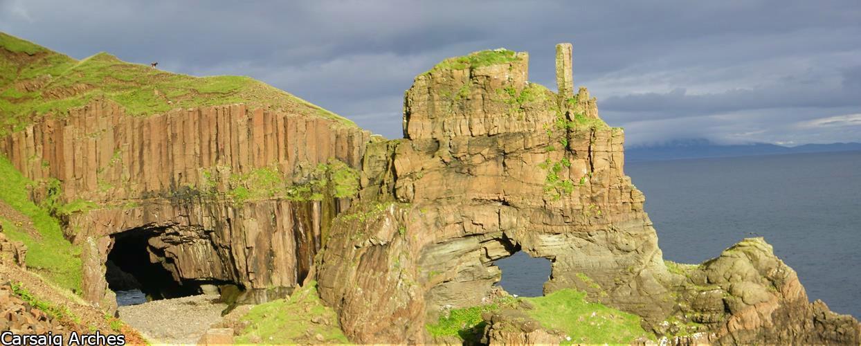 Carsaig Arches, Isle of Mull, Mull Basalt, Mull Walks, Mull Sea Features