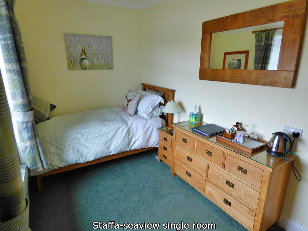 accommodation,Seaview,Staffa single room