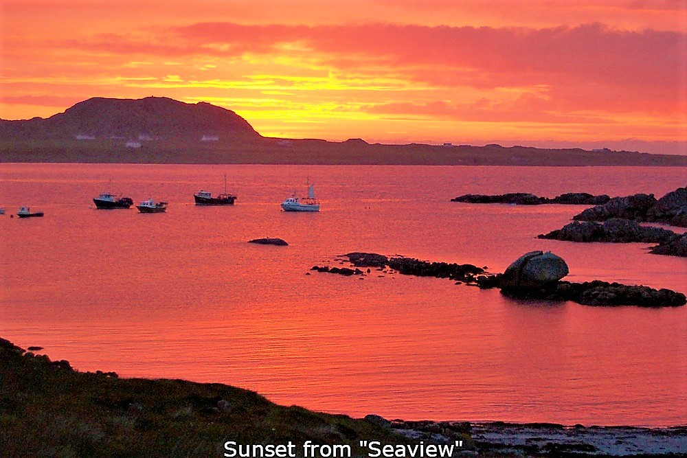 Sunset, Seaview, bed and breakfast, Fionnphort, Isle of Mull