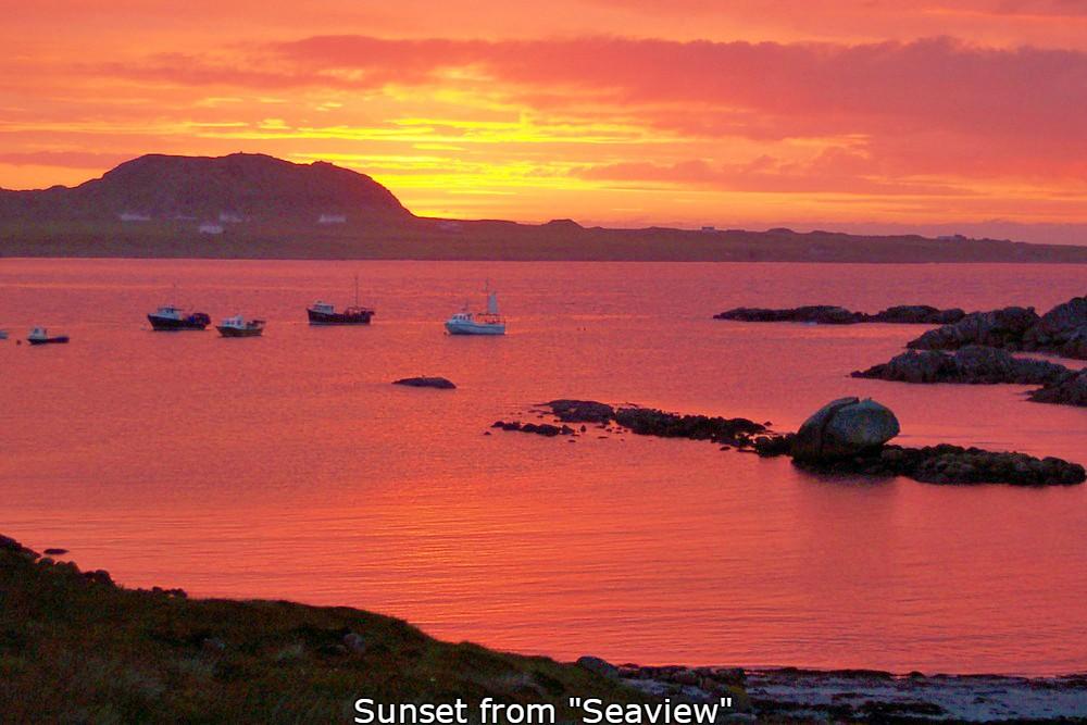 Seaview sunset,brd and breakfast,Fionnphort,Isle of Mull