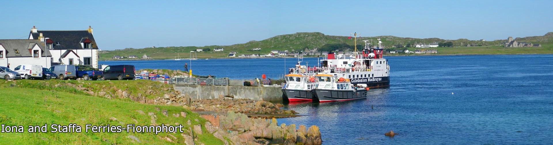 Fionnphort, Mull, Iona, Staffa,ferries