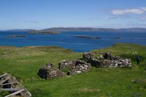 Staffa, boat, trips and tours, Lunga, croft, ruins