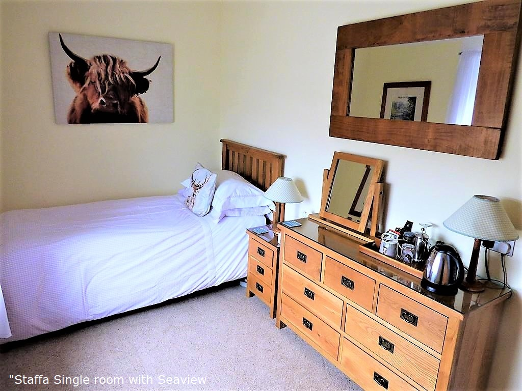 bed and breakfast accommodation, Staffa, single room