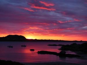 Sunset.Iona, Fionnphort, Seaview B and B